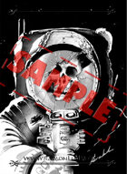 Image - Stock Art - Grayscale - Stock Illustration - Zombie - Space man