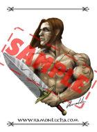 Image - Stock Art - Grayscale - Stock Illustration - Human - Man - Warrior
