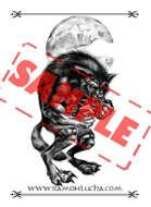 Image - Stock Art - Grayscale - Stock Illustration - Alchemist magician - Sorcerer