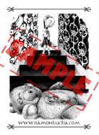 Image - Stock Art - Grayscale - Stock Illustration - Possessed girl - horror - tale