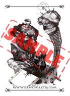 Image - Stock Art - Grayscale - Stock Illustration - Demon - Evil - zombie - vampire
