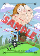 Image- Stock Art- Stock Illustration- Tale - Castle - Snail - Cartoon