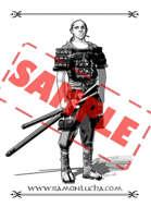 Image - Stock Art - Package - Samurai - Buckground - Warrior