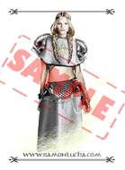 Image - Stock Art - Grayscale - Stock Illustration - Alchemist magician - Sorcerer- priestess