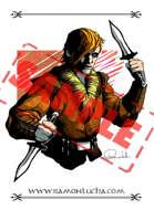 Image - Stock Art - Grayscale - Stock Illustration - rpg - Vampire - Hunter - warrior - rogue