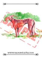 Image - Stock Art - Grayscale - Stock Illustration - rpg - Dog - animal