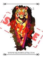 Image - Stock Art - Grayscale - Stock Illustration - rpg - Tiger - animal