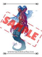 Image - Stock Art - Grayscale - Stock Illustration - rpg - Mermaid - Woman - Monster