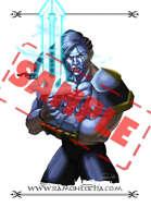 Image - Stock Art - Grayscale - Stock Illustration - rpg - Warrior - Woman - sword