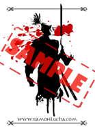 Image - Stock Art - Grayscale - Stock Illustration - rpg - Samurai - Warrior - Blood - shades