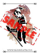 Image - Stock Art - Grayscale - Stock Illustration - rpg - Samurai - Warrior - watercolor - japanese