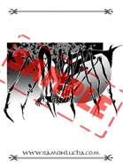 Image - Stock Art - Grayscale - Stock Illustration - rpg - Samurai - demon - Jorogumo - japanese - evil - Spider