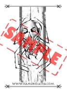 Image - Stock Art - Grayscale - Stock Illustration - rpg -Giant Spider- Mutant - Monster