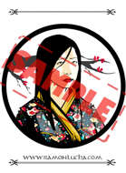 Image - Stock Art - Grayscale - Stock Illustration - rpg - Girl - Japanese - Samurai - Beautiful