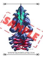 Image - Stock Art - Grayscale - Stock Illustration - rpg - Demonic - god - Monster - Meditation Alien