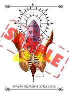 Image - Stock Art - Grayscale - Stock Illustration - rpg - Demonic - god - Monster - Meditation Alien - Face