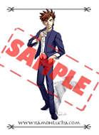 Image - Stock Art - Grayscale - Stock Illustration - rpg - Manga - Character - Boy - student