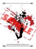 Image - Stock Art - Grayscale - Stock Illustration - rpg - Samurai - Warrior - Blood - shades - zombie