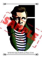 Image - Stock Art - Grayscale - Stock Illustration - rpg - Samurai - Warrior - investigator - spy