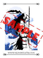 Image - Stock Art - Grayscale - Stock Illustration - rpg - Manga - Character - Samurai - Warrior - Japanese