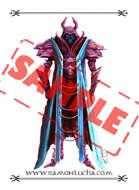 Image - Stock Art - Grayscale - Stock Illustration - rpg - Nigromante- necromancer- Samurai - death