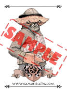 Image - Stock Art - Grayscale - Stock Illustration - rpg - fisherman - mutant - Crab