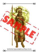 Image - Stock Art - Grayscale - Stock Illustration - rpg - Centurion - Warrior - digital - armor