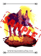 Image - Stock Art - Grayscale - Stock Illustration - rpg - horse - nightmare - chaos