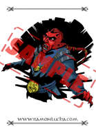 Image - Stock Art - Grayscale - Stock Illustration - rpg - demon - Warrior - evil - cambion