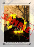 Image - Stock Art - Grayscale - Stock Illustration - rpg - - cover page - digital- Halloween