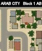 Block 1 / AB maps ARAB CITY Series for all Modern Skirmish Games Rules