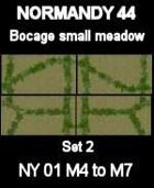 Bocage/Small meadow Set2 Maps #37 to #40 NORMANDY 44 Series for all WW2 Skirmish Games Rules