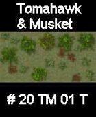 Wood #20 TOMAHAWK & MUSKET Series for Skirmish rules