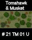 Wood #21 TOMAHAWK & MUSKET Series for Skirmish rules