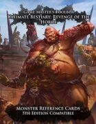 Ultimate Bestiary: Revenge of the Horde - Monster Reference Deck (5E)