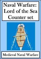 Naval Warfare : Medieval Ships:  Lords of the Sea Counter set