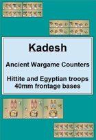 Kadesh : Hittite and Egyptian wargame counters