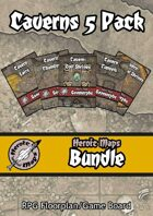Heroic Maps: Caverns - 5 Pack [BUNDLE]