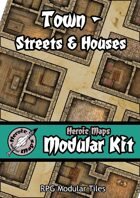 Heroic Maps - Modular Kit: Town - Streets & Houses