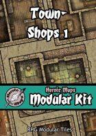 Heroic Maps - Modular Kit: Town - Shops 1