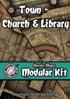 Heroic Maps - Modular Kit: Town - Church & Library