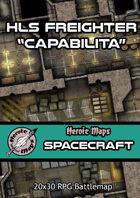 "Heroic Maps - Spacecraft: HLS Freighter ""Capabilita"""