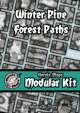 Heroic Maps - Modular Kit: Winter Pine Forest Paths