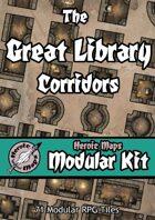 Heroic Maps - Modular Kit: The Great Library Corridors