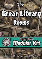 Heroic Maps - Modular Kit: The Great Library Rooms