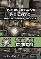 Heroic Maps - Storeys: New Atami Heights - Apartment Block