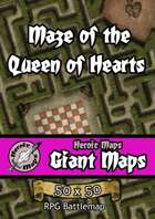 Heroic Maps - Giant Maps: Maze of the Queen of Hearts