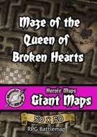 Heroic Maps - Giant Maps: Maze of the Queen of Broken Hearts