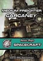 Heroic Maps - Spacecraft: Medium Freighter Garganey