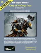 King of Icefang Pass- A Swords & Wizardry Mini-Dungeon